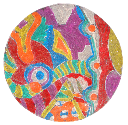 elementary student work sand painting
