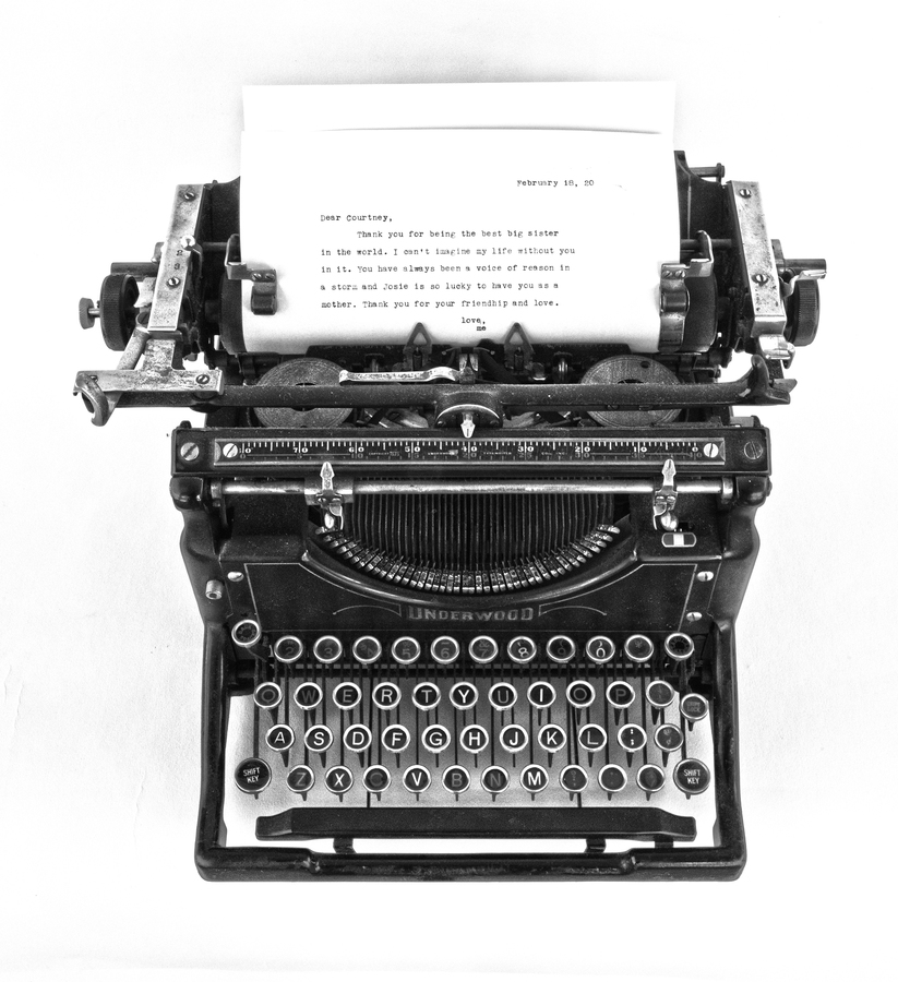 gallery ten twenty-two 1929 Underwoord typewriter letter