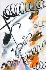 Shorthand Series mixed media on paper, mounted on wood