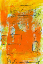Shorthand Series mixed media on paper