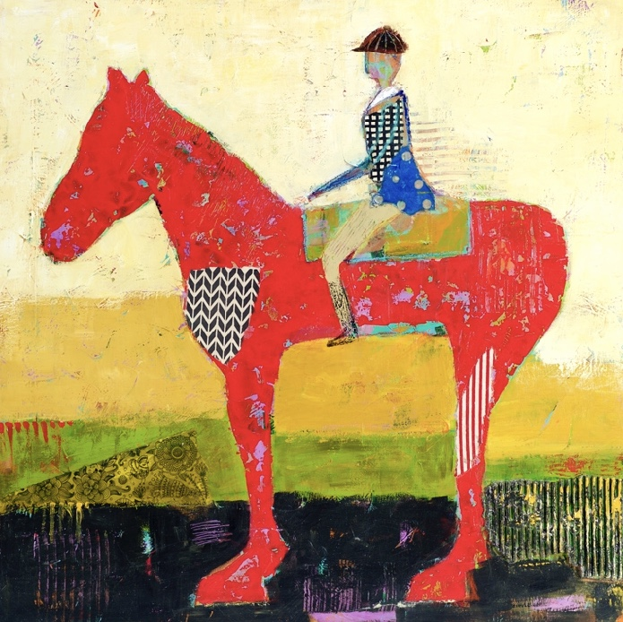 Paint & Palette Knife Ride a Red Horse