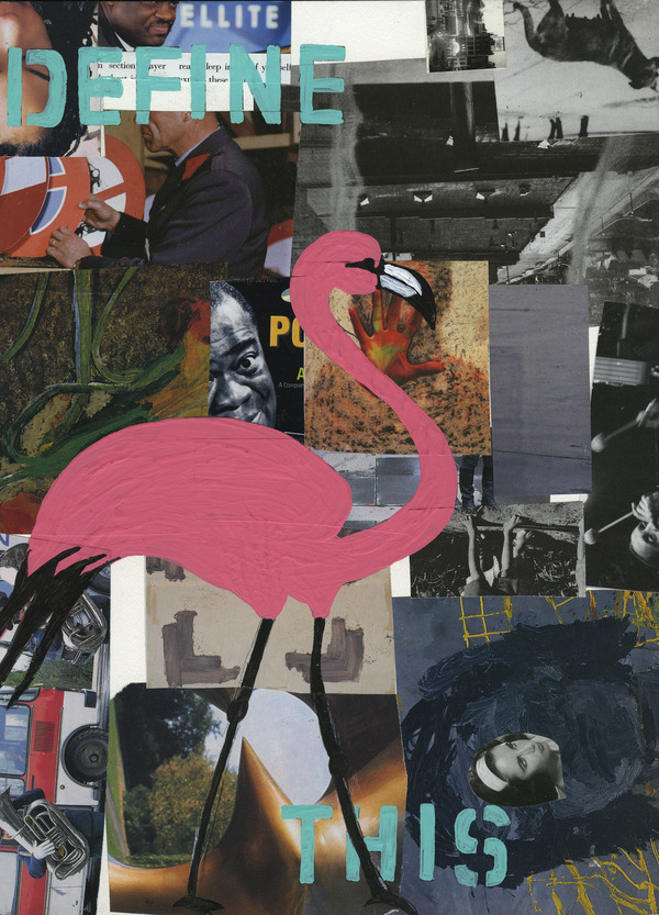 Charles Goss Sixty Collage/acrylic