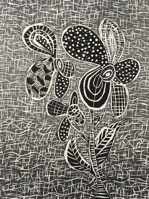 CHEYMORE GALLERY SALLY BRUNO PAINTINGS / July 7 - September 15, 2018 Linocut