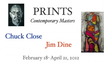 PRINTS: Contemporary Masters Jim Dine and Chuck Close