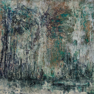Christine Shannon Aaron Mixed Media Work lithographic monoprint