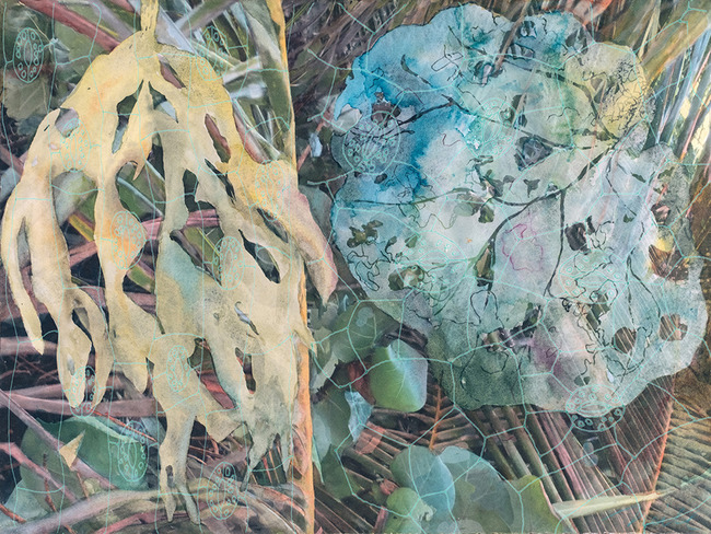 CHRISTINE NEILL Mixed Media Paintings 2017-2018