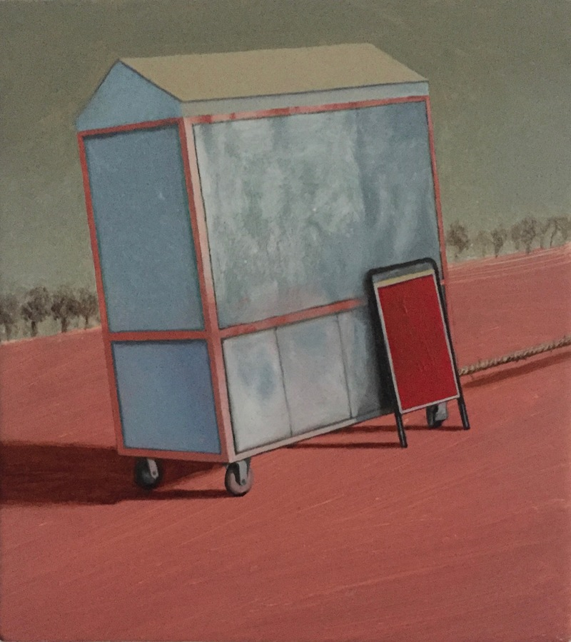 Christopher Croft Small Windows Oil on Gesso Wood Panel