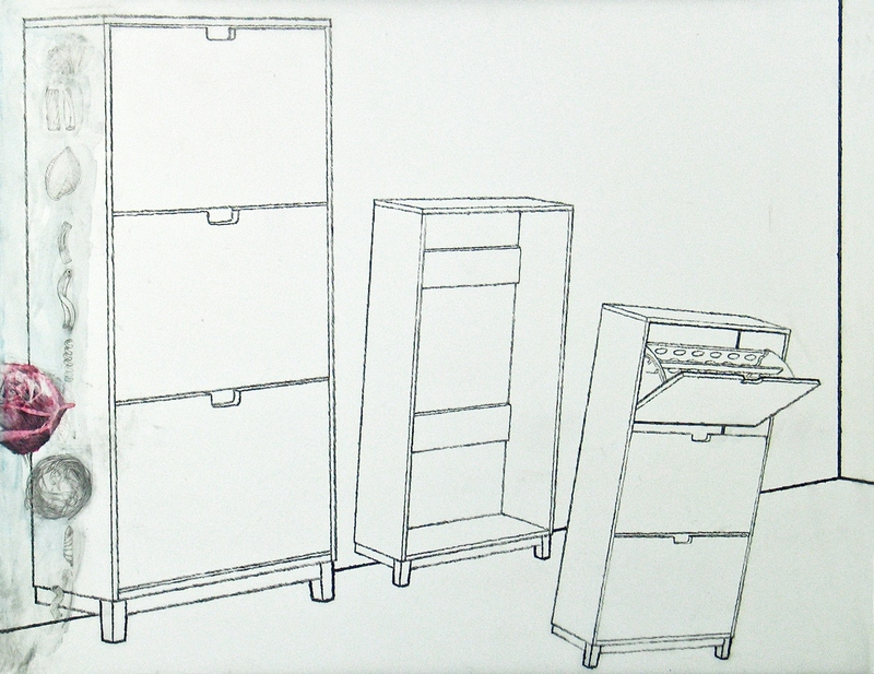 Christopher Croft Ikea Suite Graphite, Watercolour, Polyester Drafting Film