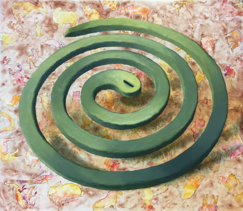 Christopher Croft Mozzie Coils Oil on gesso wood panel