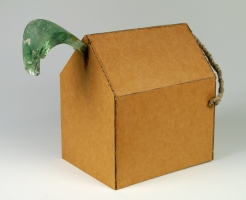 Christopher Croft Wild Houses Old Green Glass, Plaited String, Corrugated Packing Card