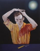 Christopher Croft Actors Oil on Canvas