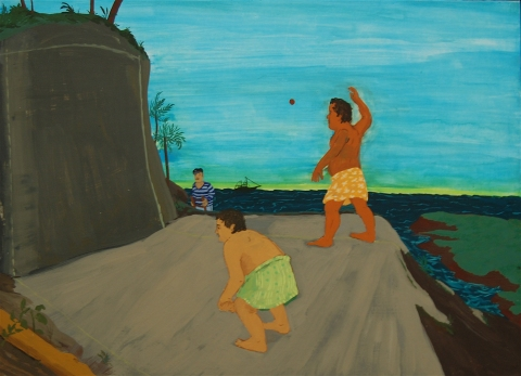Life In The Pacific: Sailor Stumbles Upon a Primitive Form Of Handball