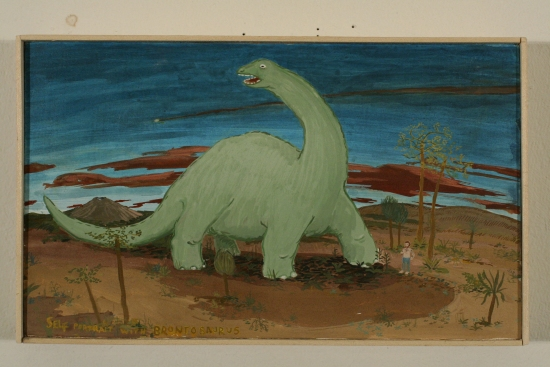 Self Portrait with Brontosaurus