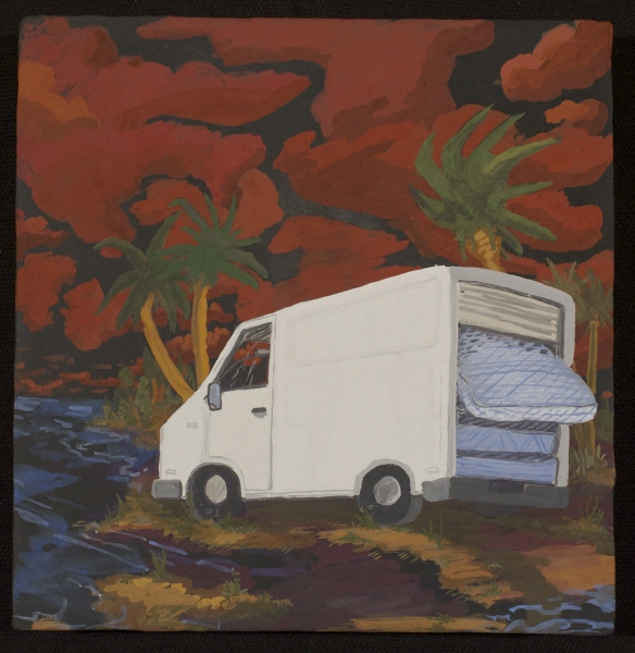the TEENS Mattress Van On The California Coast