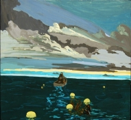 Christopher  Ulivo LIFE IN: The Pacific, The Atlantic and The Arctic gouache on panel