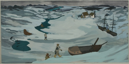 Christopher  Ulivo LIFE IN: The Pacific, The Atlantic and The Arctic gouache on paper