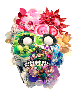 christybomb sugar skulls Mixed media
