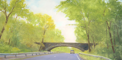 Cynthia K Mullins Prints of the Merritt Parkway Paintings archival print on paper, original oil on board