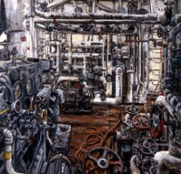 "Cindy Tower ""Workplace Paintings"" Oil on canvas"
