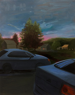 Claire McConaughy Landscapes, Lawns, Pools and Cars 2015-17 oil on canvas