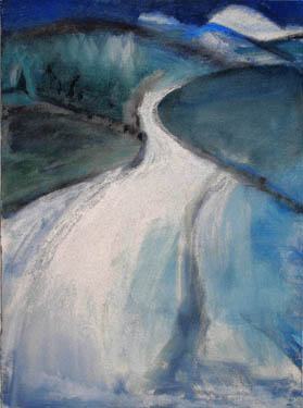 Claire Rosenfeld Landscapes oil and pastel on paper