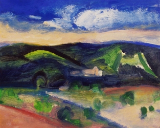 Claire Rosenfeld Landscapes oil on board