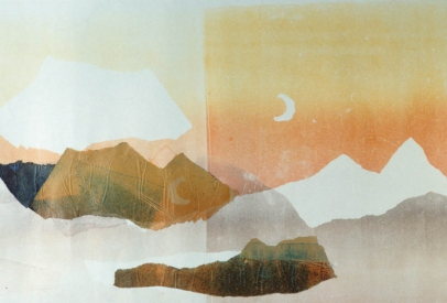 Claire Rosenfeld Prints monotype on paper