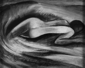 Claire Rosenfeld Drawings charcoal on paper