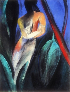 Claire Rosenfeld Figures pastel on paper