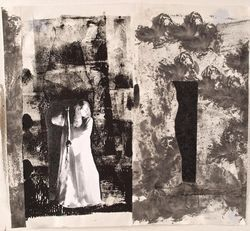 Claire Rosenfeld Collages monotype and photograph collage