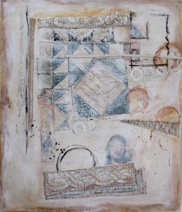 Clare Murray Adams Mixed Media on Paper and Canvas mixed media collage on canvas