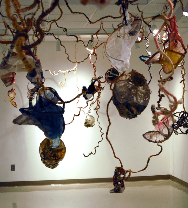 Clare Murray Adams Divergence sculptural mixed media fiber