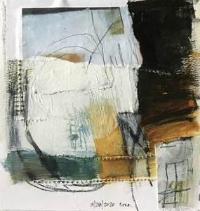 Clare Murray Adams From My Sketchbook mixed media collage