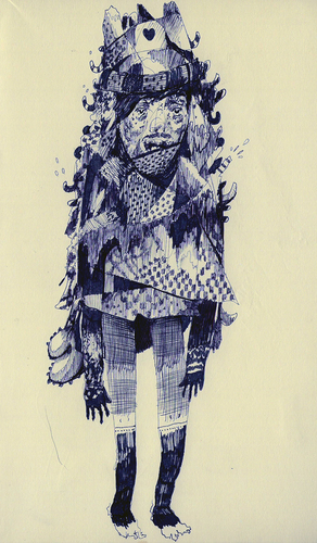 Clarke Curtis Drawing Ball Point Pen, Ink