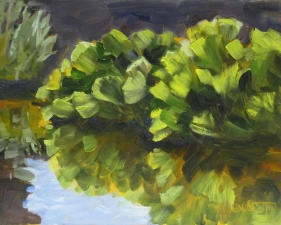 Cleo Vilett Outdoor Studies Oil on Board