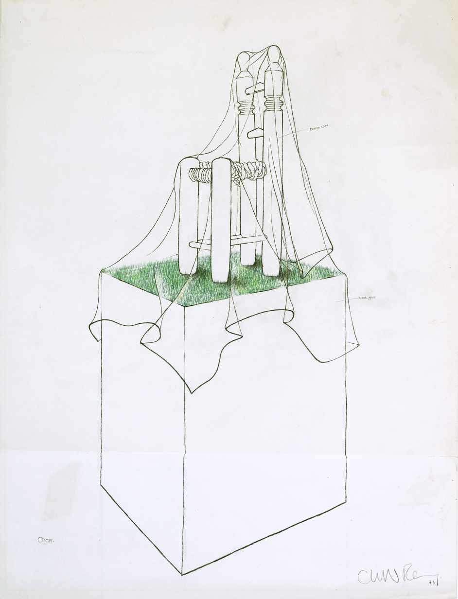 Preparatory Drawings Study for George Melly's Chair