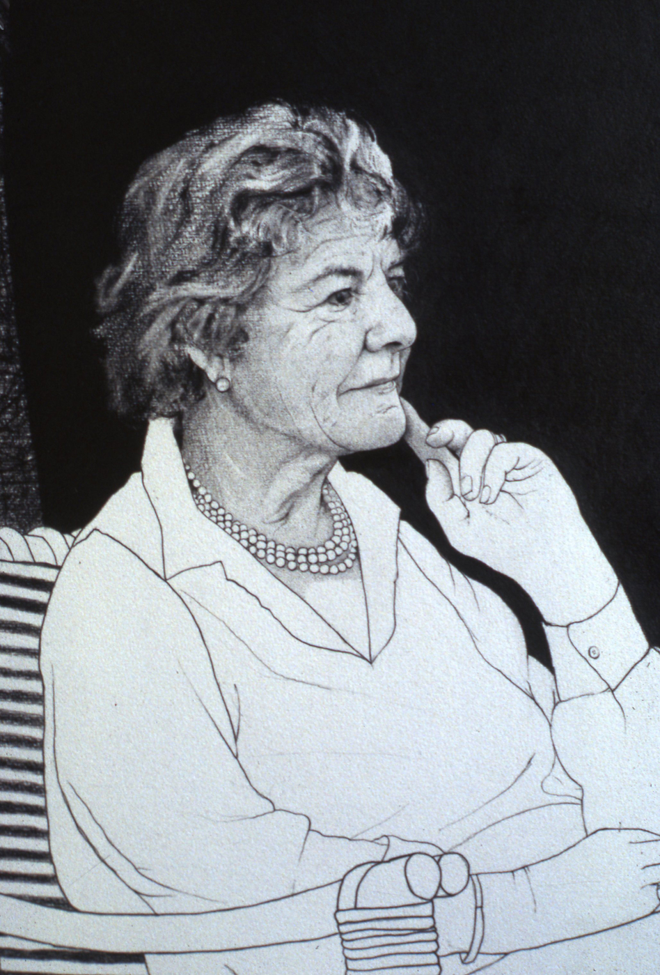 Portrait Drawings Gloria, Countess of Belmore detail