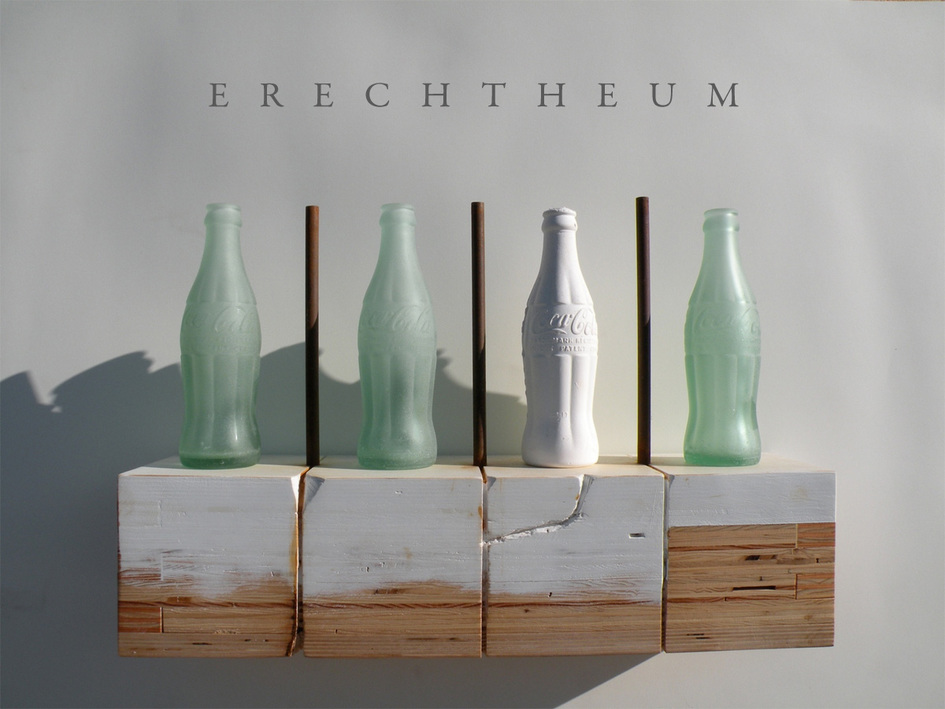 Bottle/Coca Cola Form Maquette for Erechtheum