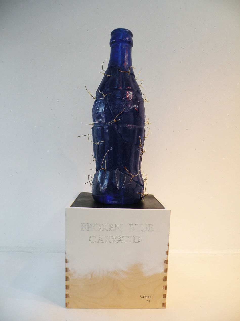 Bottle/Coca Cola Form Broken Blue Caryatid