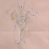 Preparatory Drawings Colour pencils on pink paper