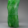 Despairing Adolescent 3D printed, cast green uranium glass