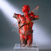 The Human Form Cast glass, optical glass, sheet glass, oil paint