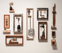 Cliff Tresner PAST WORK wood, steel, paper, soapstone, magnets and lesser materials
