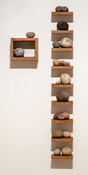 Cliff Tresner 2013-2017 Found stones, wood