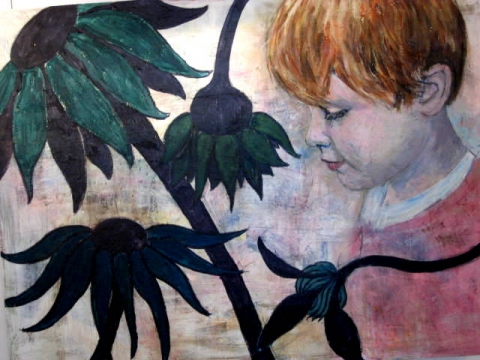 Children and Nature acrylic on canvas