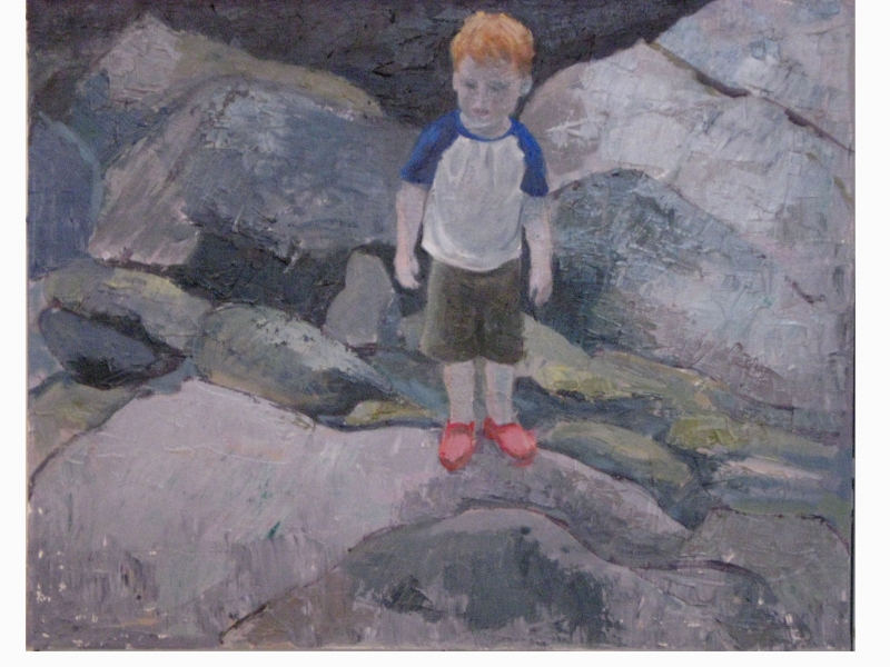 Paintings of my Family On the Rocks