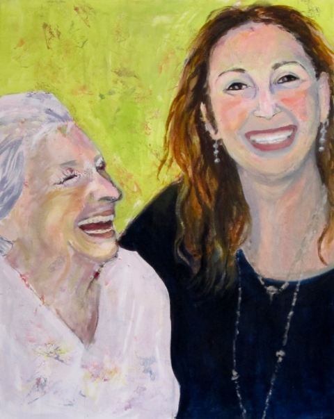 Paintings of my Family Eileen & Her Mom