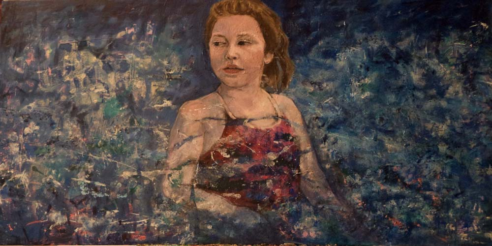 Paintings of my Family Bridget in the Water