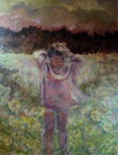 Connie Freid Children and Nature acrylic on canvas