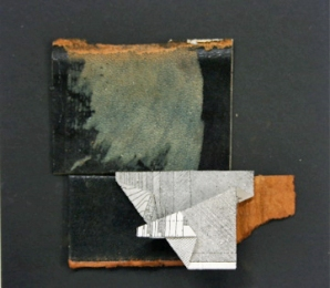 Constance Kiermaier Collages mixed media on mat board